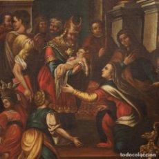 Arte: PINTURA RELIGIOSA ITALIANA PRESENTACIÓN EN EL TEMPLO DEL SIGLO XVIII. Lote 170096804