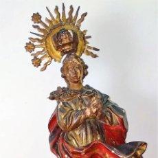 Arte: INMACULADA. MADERA TALLADA. POLICROMADA. SIGUIENDO EL MODELO DE ALONSO CANO. ESPAÑA. XVII-XVIII. Lote 170187212