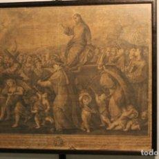 Arte: SILVIO POMAREDE 1748, TRIUNFO DE LA FE ,CRISTO EN UN CARRO TRIUNFAL. Lote 170214856