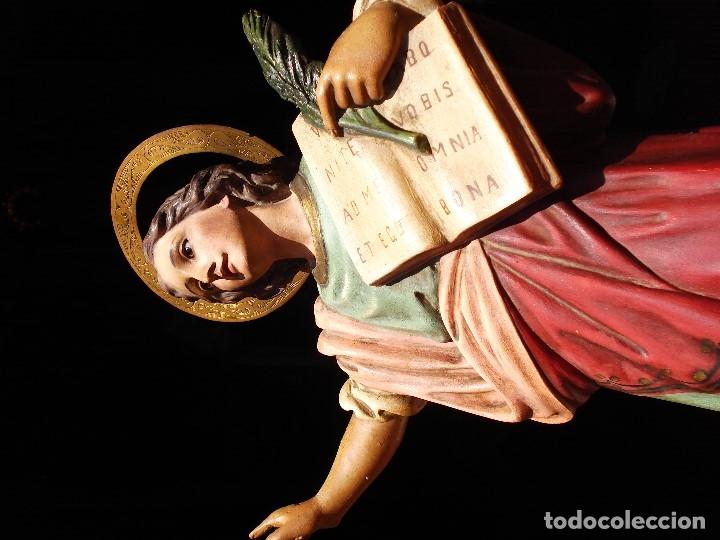 Arte: ANTIGUO SAN PANCRACIO MARTIR PASTA DE MADERA - Foto 2 - 170273276