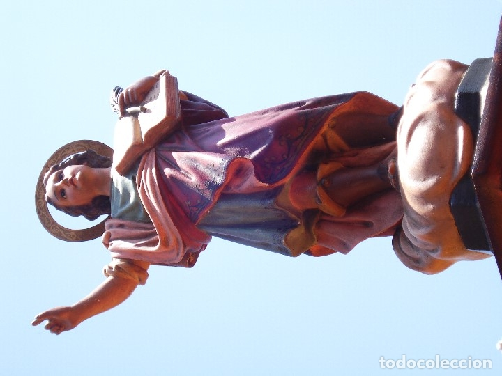 Arte: ANTIGUO SAN PANCRACIO MARTIR PASTA DE MADERA - Foto 4 - 170273276