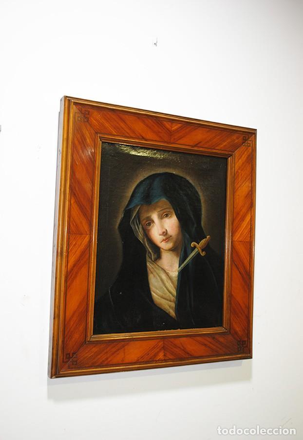 ÓLEO SOBRE LIENZO VIRGEN DOLOROSA SIGLO XVIII (Arte - Arte Religioso - Pintura Religiosa - Oleo)