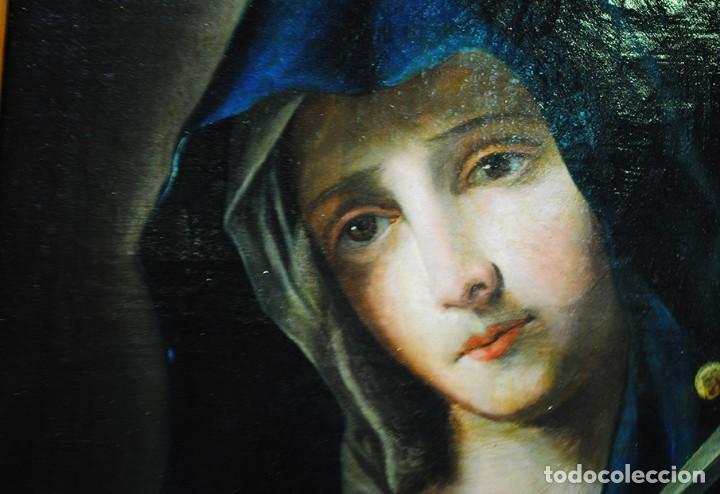 Arte: ÓLEO SOBRE LIENZO VIRGEN DOLOROSA SIGLO XVIII - Foto 5 - 170295112