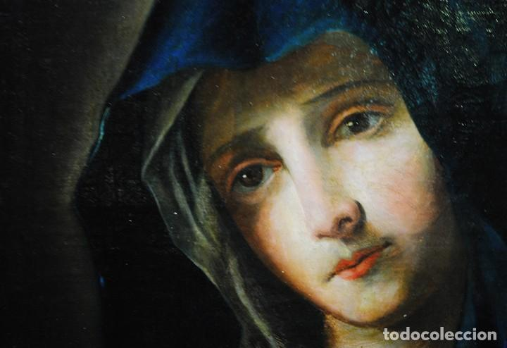 Arte: ÓLEO SOBRE LIENZO VIRGEN DOLOROSA SIGLO XVIII - Foto 6 - 170295112