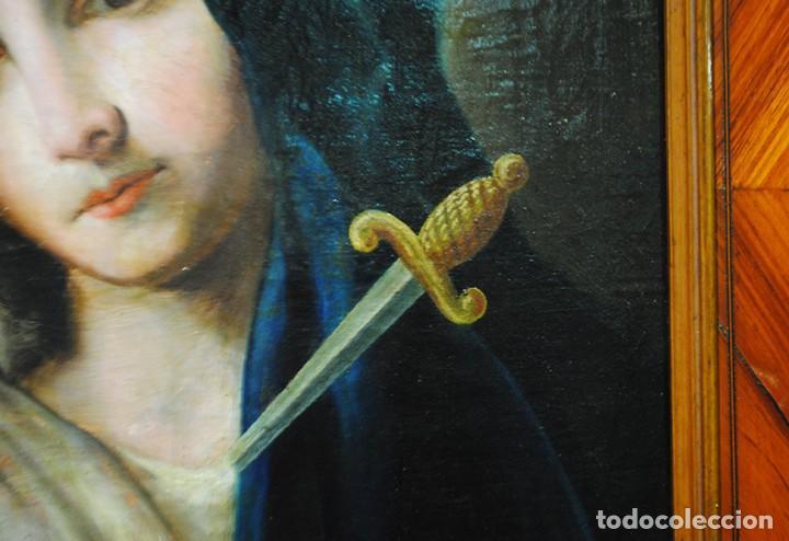 Arte: ÓLEO SOBRE LIENZO VIRGEN DOLOROSA SIGLO XVIII - Foto 8 - 170295112