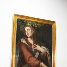 Arte: ÓLEO SOBRE LIENZO SIGLO XVIII MARIA MAGDALENA. Lote 170295868