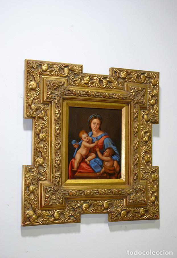 Arte: PINTURA ANTIGUA VIRGEN SOBRE PLANCHA DE COBRE - Foto 2 - 170297568