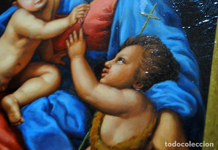 Arte: PINTURA ANTIGUA VIRGEN SOBRE PLANCHA DE COBRE - Foto 9 - 170297568