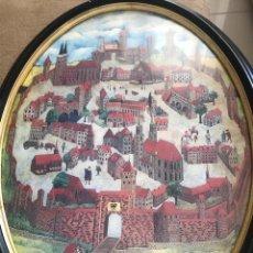 Arte: BONITA LITOGRAFÍA ENMARCADA , FIRMADA ( LUSIGNAN ) Y FECHADA 1.976 . Lote 170313080