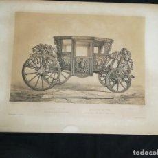 Arte: LITOGRAFIA ESPAÑA ARTISTICA Y MONUMENTAL GENARO PEREZ AÑO 1842 COCHE ANTIGUO MADRID. Lote 170317024