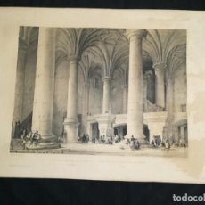 Arte: LITOGRAFIA ESPAÑA ARTISTICA Y MONUMENTAL GENARO PEREZ AÑO 1842 PARROQUIA SANTA MARIA TOLOSA. Lote 170317072