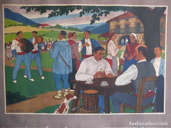 JOSE ARRUE - LITOGRAFIA A COLOR (Arte - Arte Religioso - Pintura Religiosa - Oleo)