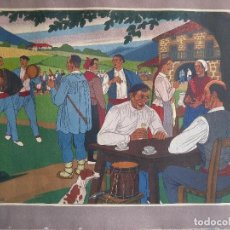 Arte: JOSE ARRUE - LITOGRAFIA A COLOR. Lote 170427532