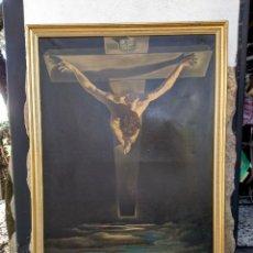 Arte: CRISTO DE SAN JUAN DE DALÍ. RÉPLICA. ÓLEO SOBRE LIENZO.. Lote 170441852