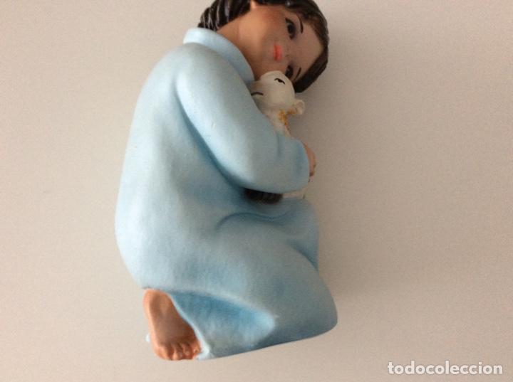 Arte: Figura de escayola del Niño con la oveja. Años 60 - Foto 2 - 170449708