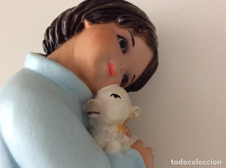 Arte: Figura de escayola del Niño con la oveja. Años 60 - Foto 3 - 170449708