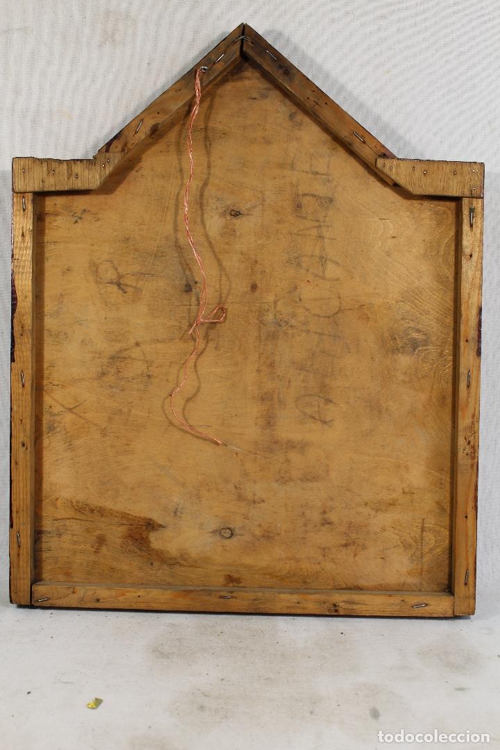 Arte: retablo nacimiento oleo sobre madera original firmado - Foto 2 - 170467288