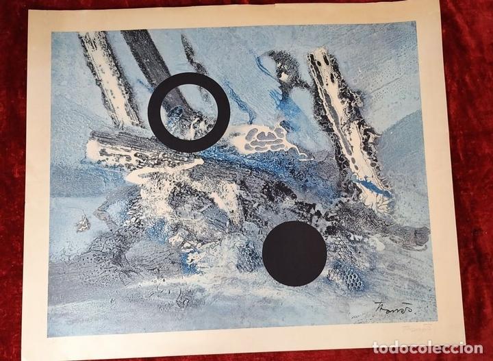 Arte: LITOGRAFÍA A COLOR. NUMERADA 49/150. FIRMA TARRÉS (?). ESPAÑA. SIGLO XX - Foto 2 - 170524708