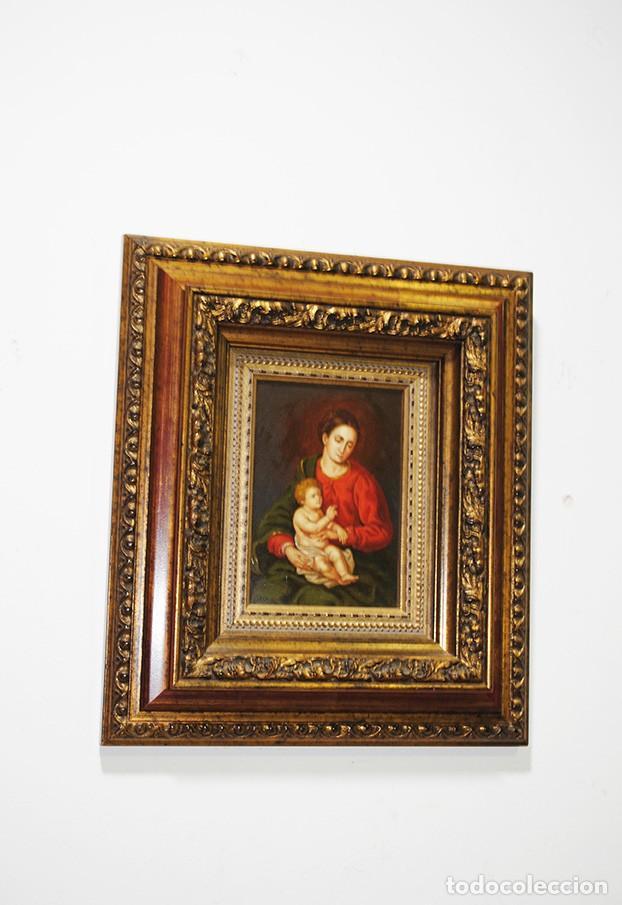 ÓLEO SOBRE LIENZO EN PLANCHA DE COBRE (Arte - Arte Religioso - Pintura Religiosa - Oleo)