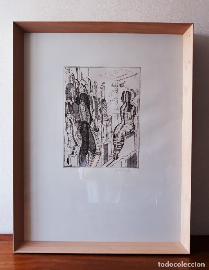 LITOGRAFIA MODERNISTA.ALEMANIA. FIRMADA. AÑOS 80 / 90 (Arte - Arte Religioso - Litografías)