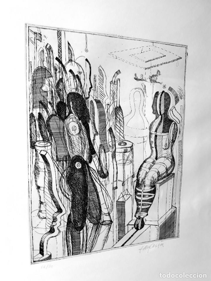 Arte: Litografia Modernista.Alemania. Firmada. Años 80 / 90 - Foto 5 - 170529132