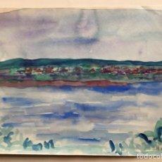 Arte: HERNANDO VIÑES SOTO (1904-1993) PINTOR ESPAÑOL. ACUARELA SOBRE PAPEL. Lote 170529356