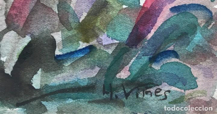 Arte: Hernando VIÑES SOTO (1904-1993) Pintor Español. Dibujo acuarela sobre papel - Foto 2 - 170536248