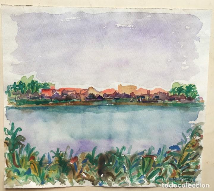 HERNANDO VIÑES SOTO (1904-1993)PINTOR ESPAÑOL. DIBUJO ACUARELA SOBRE PAPEL. (Arte - Arte Religioso - Pintura Religiosa - Acuarela)