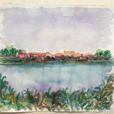 Arte: HERNANDO VIÑES SOTO (1904-1993)PINTOR ESPAÑOL. DIBUJO ACUARELA SOBRE PAPEL.. Lote 170536800