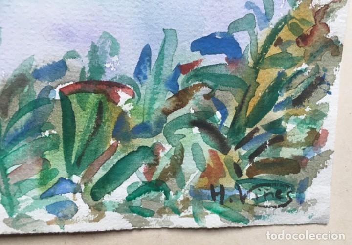 Arte: Hernando VIÑES SOTO (1904-1993)Pintor Español. Dibujo acuarela sobre papel. - Foto 2 - 170536800