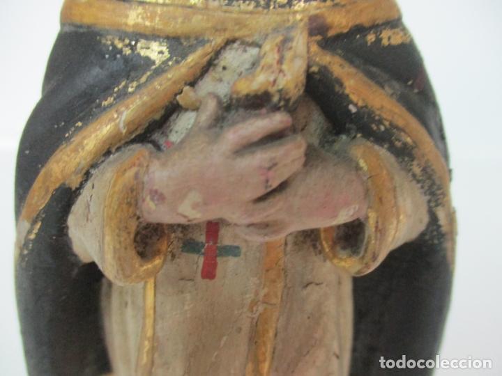 Arte: Antigua Talla de Madera Policromada y Dorada - Santo Domingo - Escuela Catalana - S. XVIII - Foto 3 - 170544328
