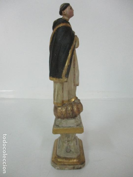 Arte: Antigua Talla de Madera Policromada y Dorada - Santo Domingo - Escuela Catalana - S. XVIII - Foto 5 - 170544328