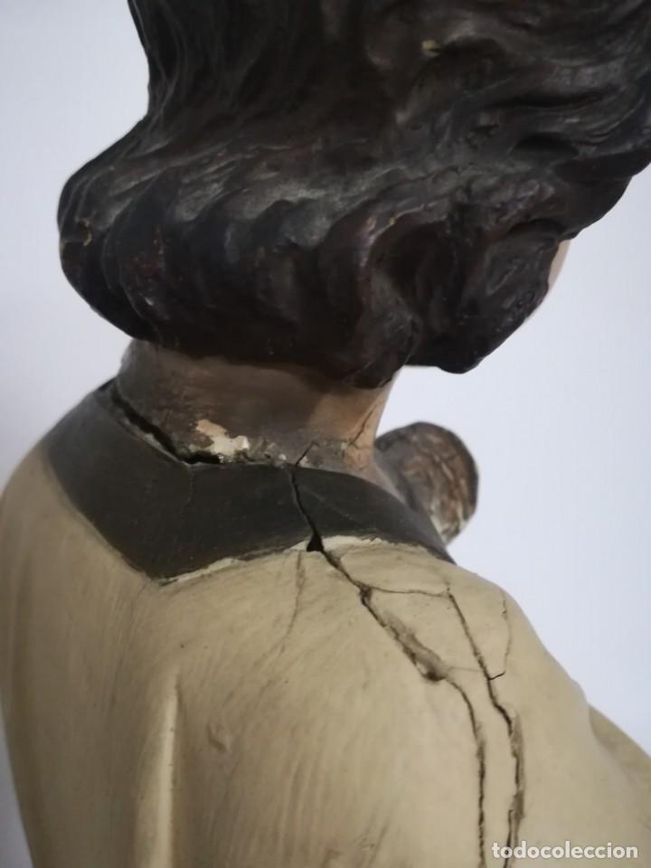 Arte: San Juan. San Juanito. Escultura estuvo policromado de Olot. 1930s aprox. Necesita restauracion. - Foto 3 - 170587250