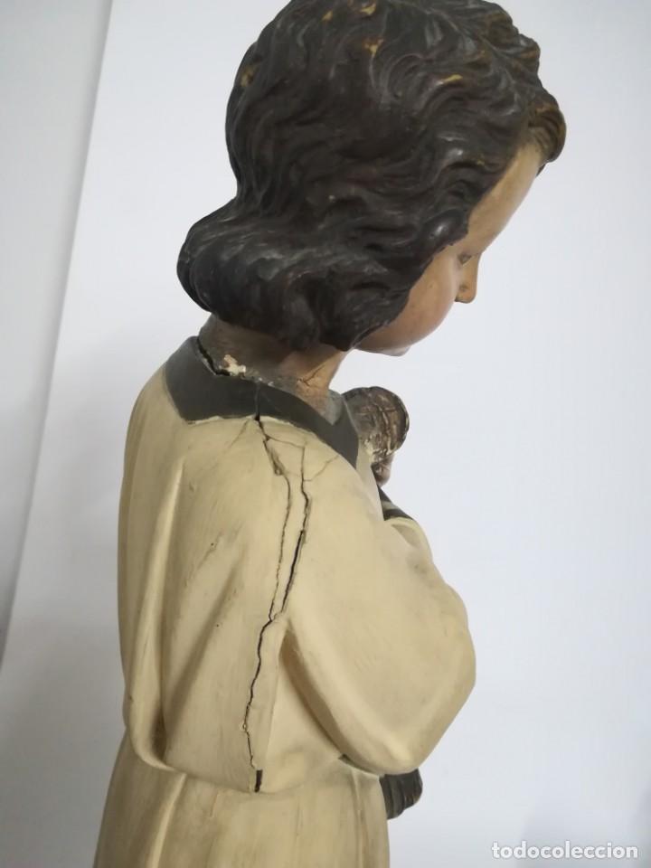 Arte: San Juan. San Juanito. Escultura estuvo policromado de Olot. 1930s aprox. Necesita restauracion. - Foto 5 - 170587250