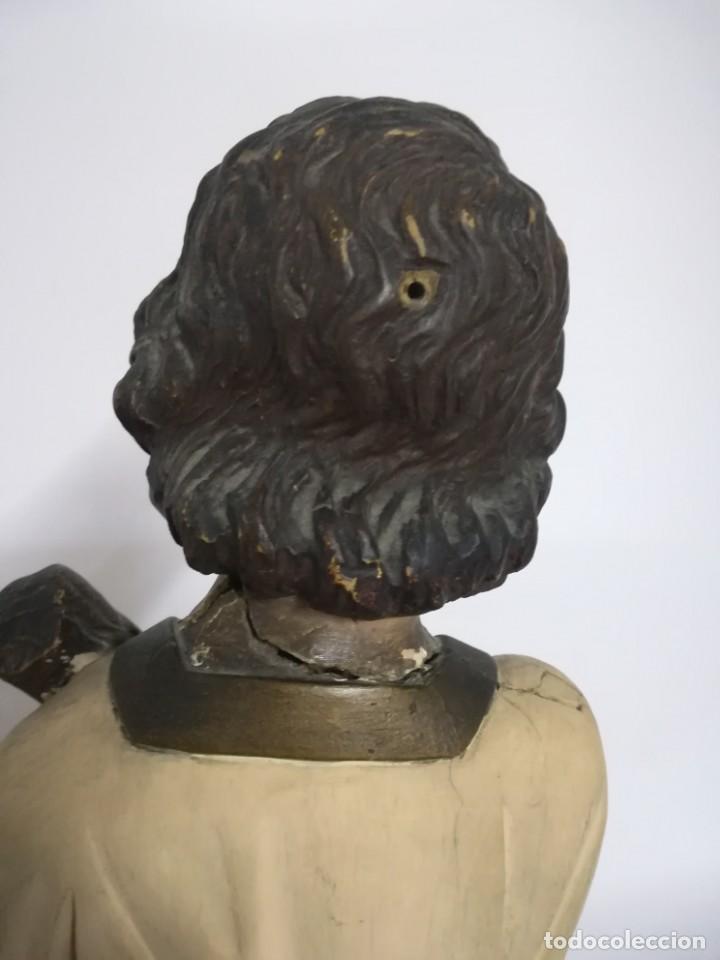 Arte: San Juan. San Juanito. Escultura estuvo policromado de Olot. 1930s aprox. Necesita restauracion. - Foto 8 - 170587250