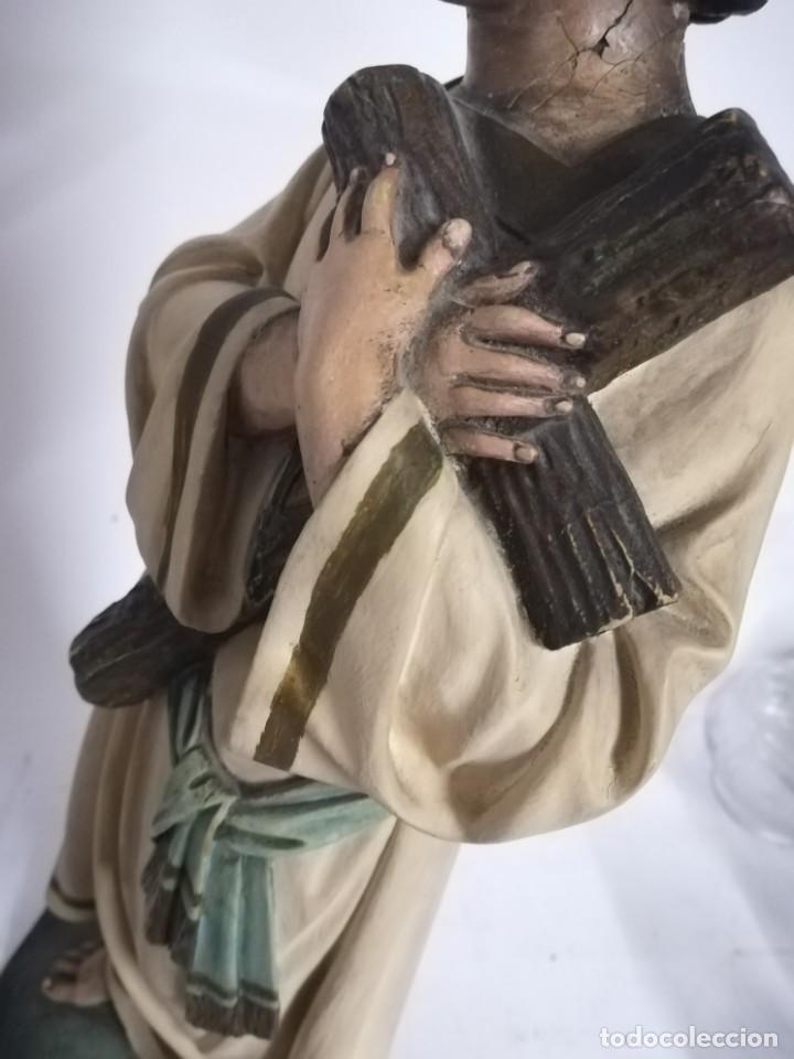Arte: San Juan. San Juanito. Escultura estuvo policromado de Olot. 1930s aprox. Necesita restauracion. - Foto 9 - 170587250