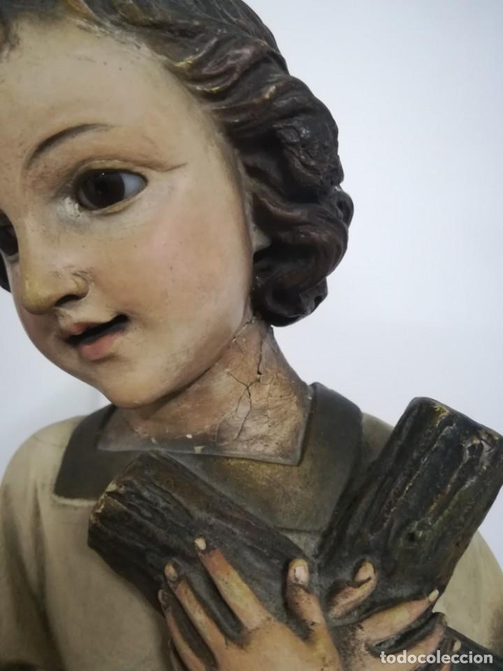 SAN JUAN. SAN JUANITO. ESCULTURA ESTUVO POLICROMADO DE OLOT. 1930S APROX. NECESITA RESTAURACION. (Arte - Arte Religioso - Escultura)