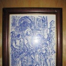 Arte: CUADRO AZULEJO ESMALTADO SAN JUAN DE DIOS , SAN JUAN GRANDE. Lote 170684870