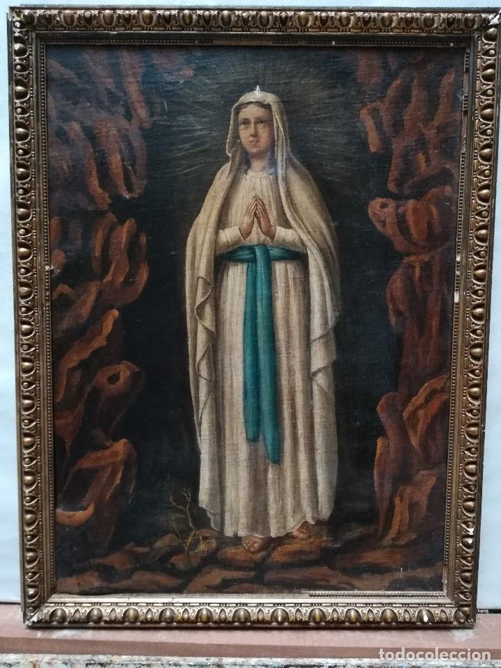 VIRGEN DE LURDES (Arte - Arte Religioso - Pintura Religiosa - Oleo)