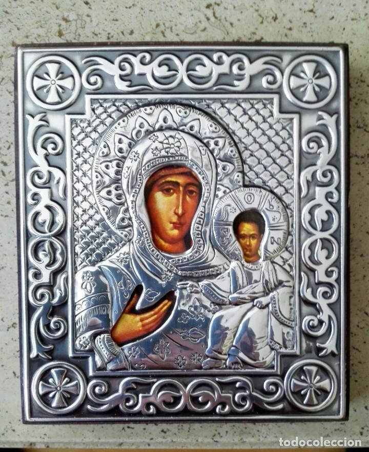ICONO ORTODOXO EN PLATA (Arte - Arte Religioso - Iconos)
