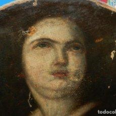 Arte: (M) ÓLEO RELIGIOSO ESCUELA ESPAÑOLA S. XVIII / XIX, ESTÁ SIN FIRMAR, 40 CM, SEÑALES DE USO. Lote 170921955