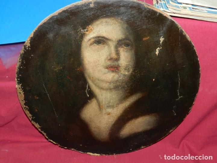 Arte: (M) Óleo Religioso Escuela Española S. XVIII / XIX, Está Sin Firmar, 40 cm, Señales de Uso - Foto 7 - 170921955