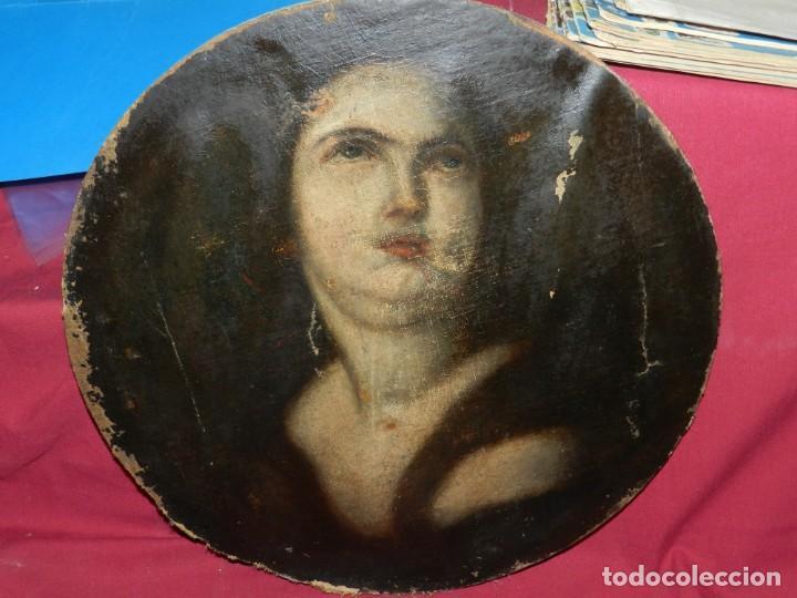 Arte: (M) Óleo Religioso Escuela Española S. XVIII / XIX, Está Sin Firmar, 40 cm, Señales de Uso - Foto 14 - 170921955