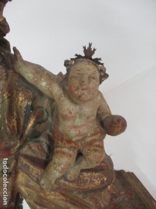 Arte: San José - Talla de Madera Policromada y Dorada - Escuela Catalana - S. XVIII - Foto 10 - 171016067