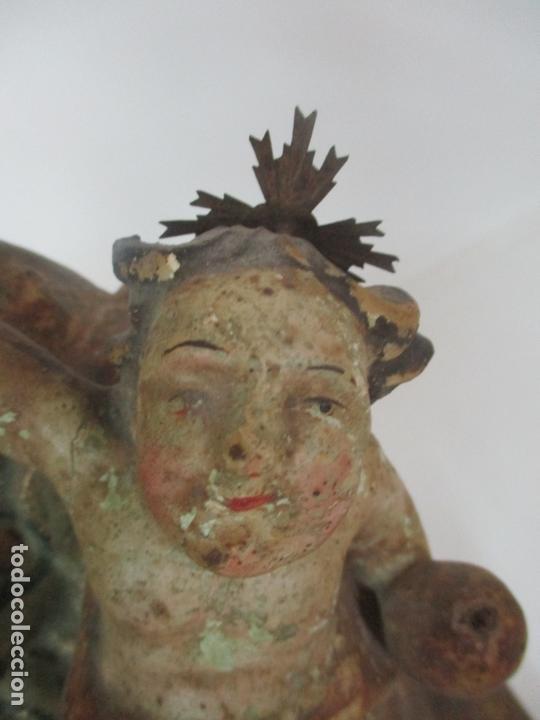 Arte: San José - Talla de Madera Policromada y Dorada - Escuela Catalana - S. XVIII - Foto 11 - 171016067