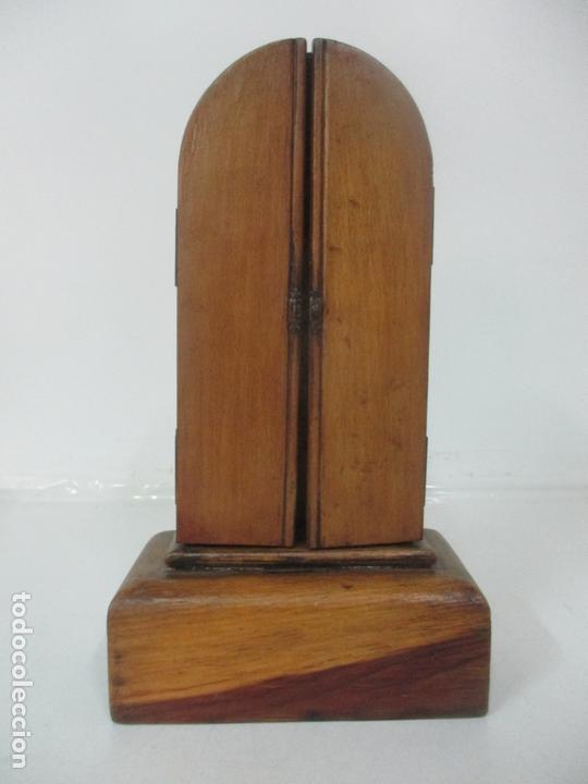 Arte: Preciosa Capilla Limosnera - Virgen de Fátima - Estuco Policromado - Talleres de Olot - Foto 2 - 171017627