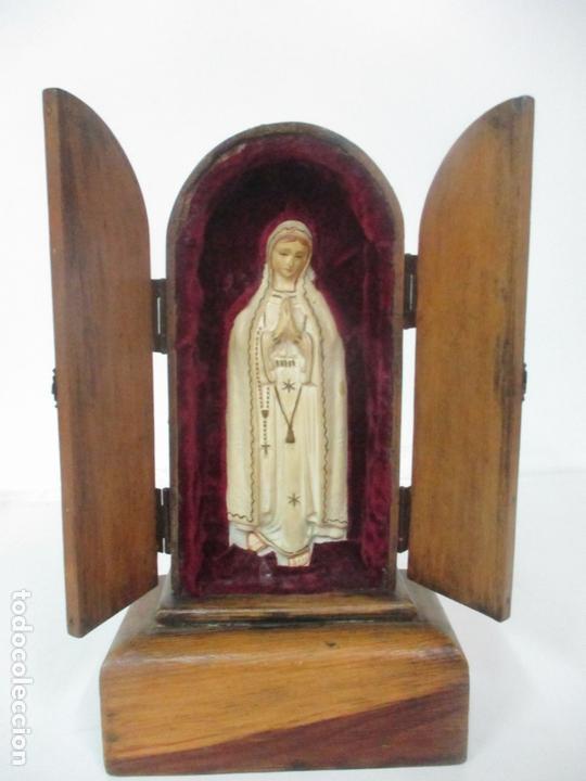 Arte: Preciosa Capilla Limosnera - Virgen de Fátima - Estuco Policromado - Talleres de Olot - Foto 10 - 171017627