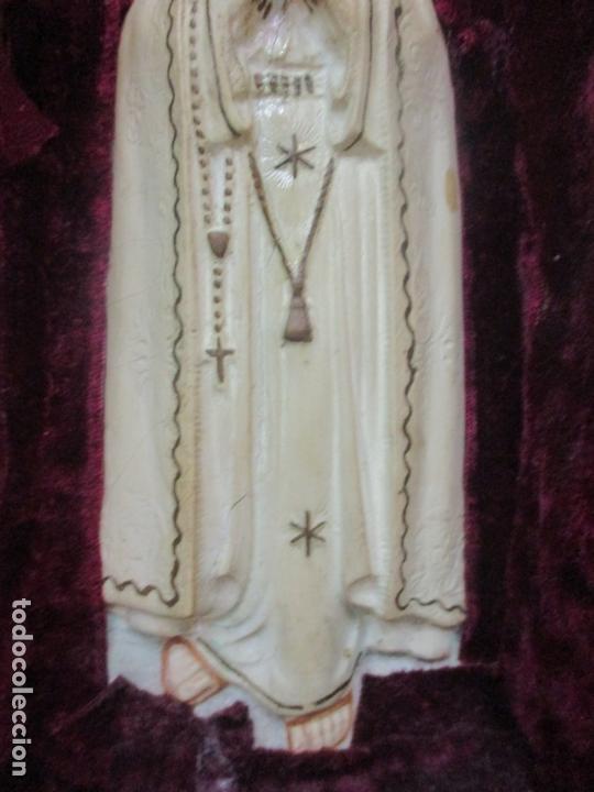 Arte: Preciosa Capilla Limosnera - Virgen de Fátima - Estuco Policromado - Talleres de Olot - Foto 11 - 171017627