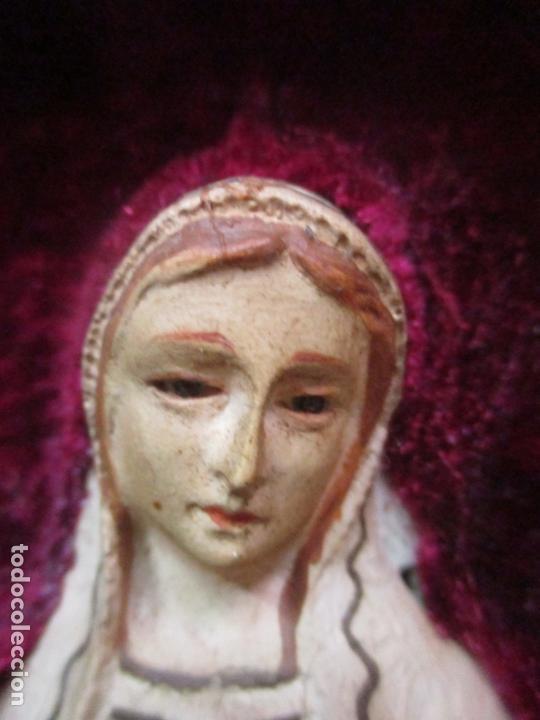 Arte: Preciosa Capilla Limosnera - Virgen de Fátima - Estuco Policromado - Talleres de Olot - Foto 13 - 171017627