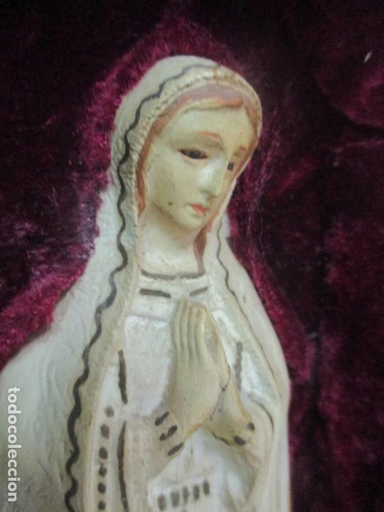 Arte: Preciosa Capilla Limosnera - Virgen de Fátima - Estuco Policromado - Talleres de Olot - Foto 14 - 171017627